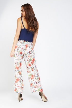 Printed Straight Fit Trousers