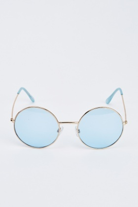 Round Eye Gold Sunglasses