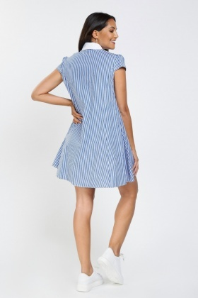 Striped Flared Tunic Dress