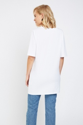 Graphic Front Long T-Shirt
