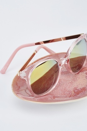 Light Pink Wayfarer Sunglasses