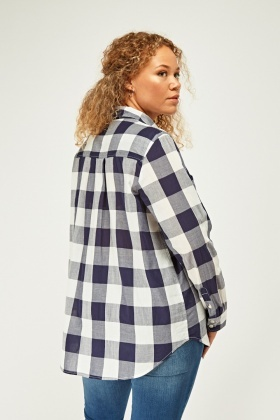 Twin Pocket Front Check Shirt
