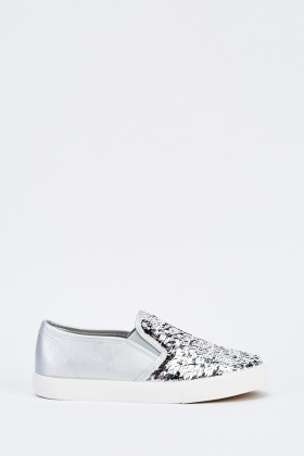 Dual Sided Sequin Insert Plimsolls