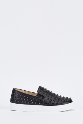 Studded Slip On Plimsolls