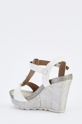 Studded Weave Stitched Wedge