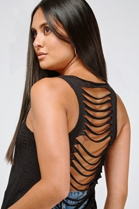 Cut Out Back Detail Vest Top
