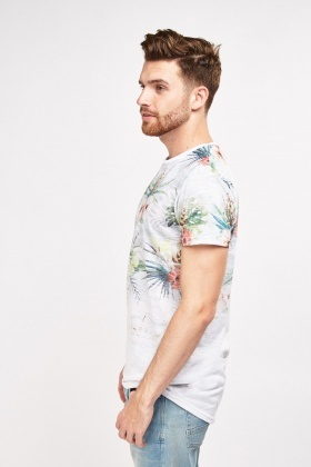 Faded Tropical Floral T-Shirt