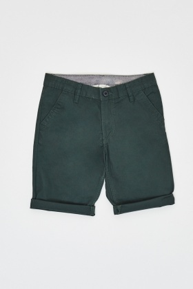 Low Rise Rolled Hem Shorts