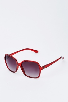 Burgundy Wrap Sunglasses