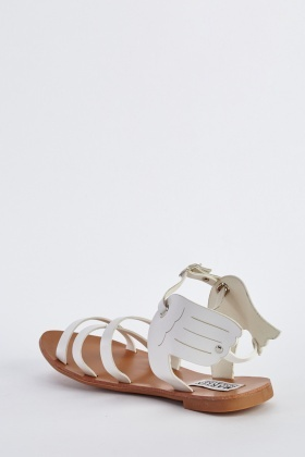 Cut Out Winged Sandals