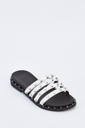 Strappy Studded Flat Sandals