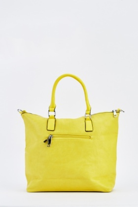 Textured Tote Contrasted Handbag