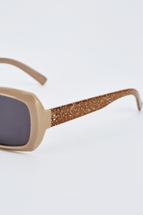 Chunky Glitter Detailed Sunglasses