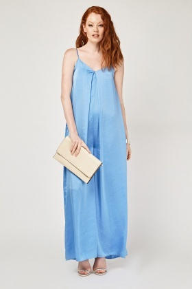 Flared Sateen Jumpsuit