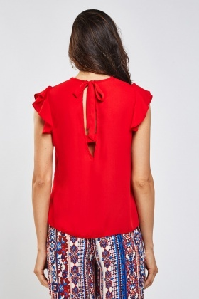 Frilly Tie Up Back Top