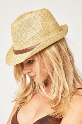Speckled Straw Fedora Hat