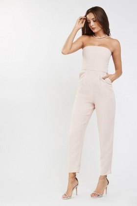 Strapless Skinny Fit Jumpsuit