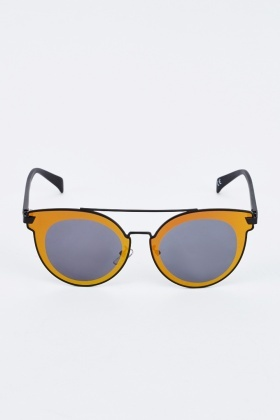 Contrasted Cat Eye Sunglasses