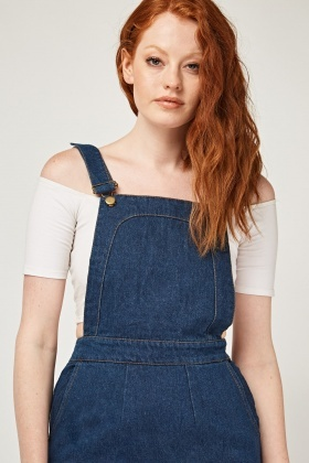 62f12332 Denim Dungaree Dress - Just £5