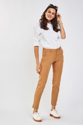Mid Rise Straight Fit Chinos
