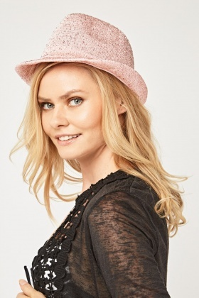 Sequin Embellished Bowler Hat