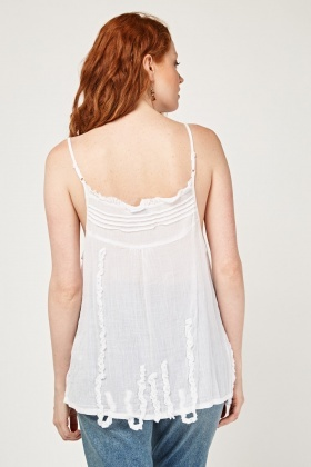 Textured Crinkled Cami Top