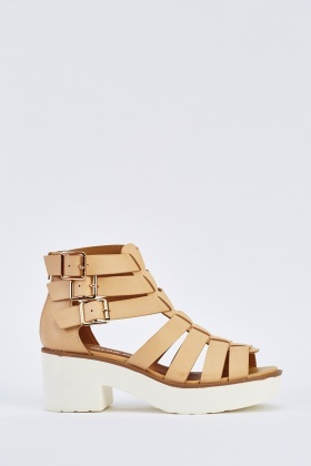 Cut Out Chunky Gladiator Sandals