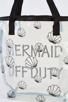 Transparent Mermaid Shell Bag