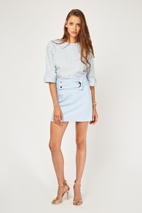 Detailed Front Mini Skirt