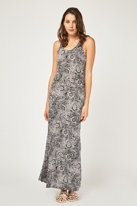Paisley Printed Maxi Dress