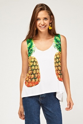 Pineapple Printed Vest Top