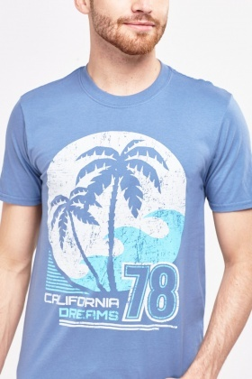 Printed Front Mens T-Shirt