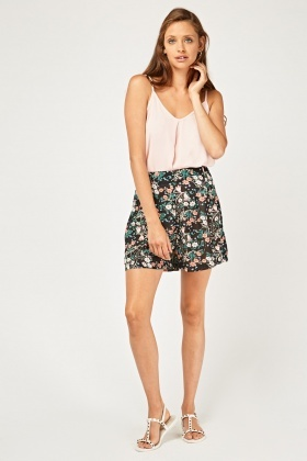 Botanical Printed Culotte Shorts