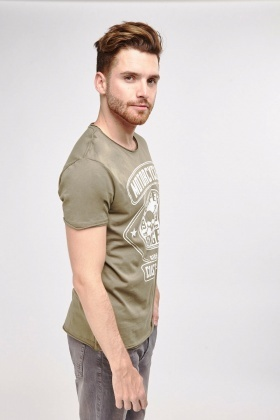 Casual Print Mens T-Shirt