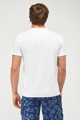 Graphic Front White T-Shirt