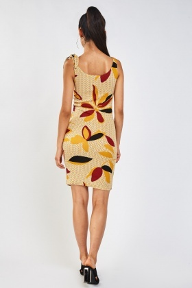 Retro Printed Bodycon Dress