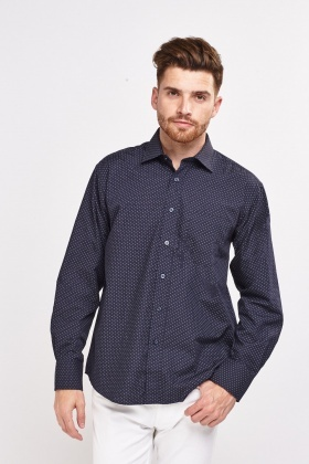 Long Sleeve Dotted Shirt
