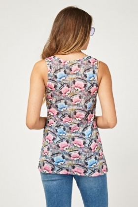 Novelty Print Vest Top