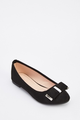 Bow Trim Suedette Pumps