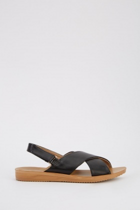 Cross Over Flat Sandals