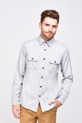 Mens Pocket Flap Front Shirt