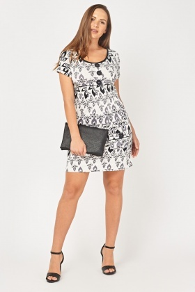 Printed Mini Tunic Dress