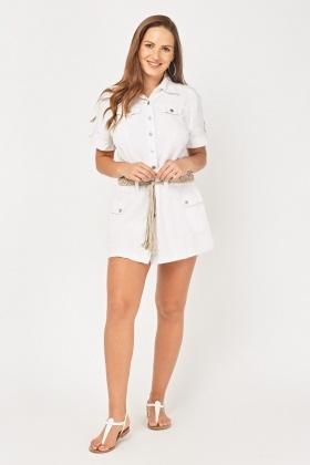 a374a72bc45 Short Sleeve Safari Shirt Dress - Just £5