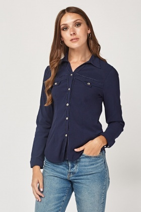 Button Front Casual Shirt