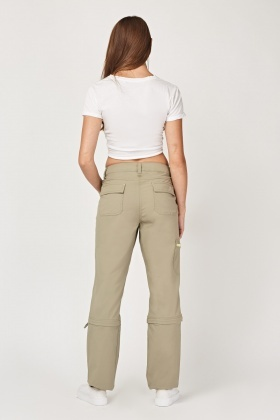 Detachable Straight Fit Trousers