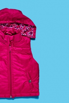 Fuchsia Hooded Bodywarmer