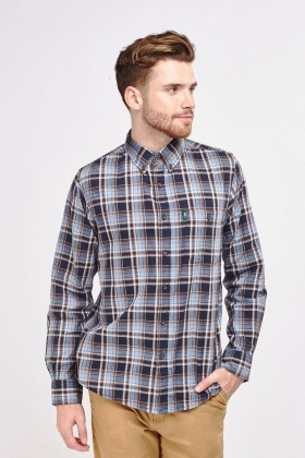 Long Sleeve Mens Tartan Shirt
