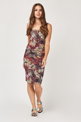 Sunflower Printed Midi Dress
