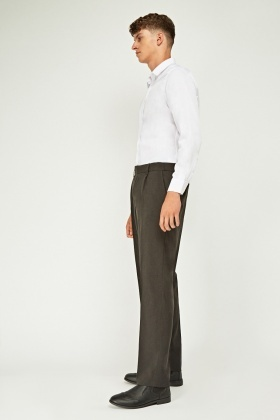 Tailored Straight Fit Trousers