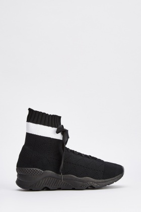 Knitted High Top Trainers